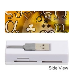 Symbols On Gradient Background Embossed Memory Card Reader (stick)