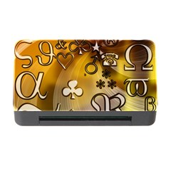 Symbols On Gradient Background Embossed Memory Card Reader With Cf