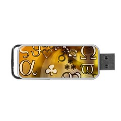 Symbols On Gradient Background Embossed Portable Usb Flash (two Sides)