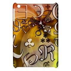 Symbols On Gradient Background Embossed Apple Ipad Mini Hardshell Case
