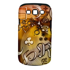 Symbols On Gradient Background Embossed Samsung Galaxy S Iii Classic Hardshell Case (pc+silicone)