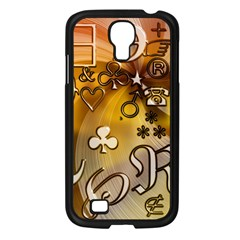 Symbols On Gradient Background Embossed Samsung Galaxy S4 I9500/ I9505 Case (black)