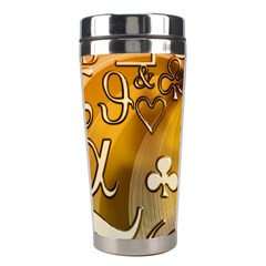 Symbols On Gradient Background Embossed Stainless Steel Travel Tumblers
