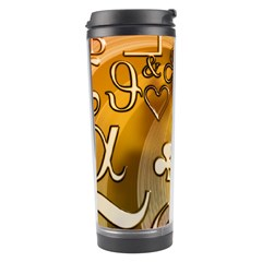 Symbols On Gradient Background Embossed Travel Tumbler