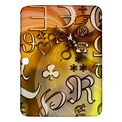 Symbols On Gradient Background Embossed Samsung Galaxy Tab 3 (10.1 ) P5200 Hardshell Case