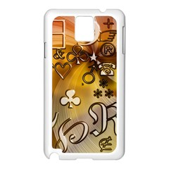 Symbols On Gradient Background Embossed Samsung Galaxy Note 3 N9005 Case (white)