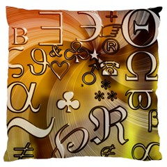 Symbols On Gradient Background Embossed Standard Flano Cushion Case (one Side)