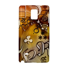 Symbols On Gradient Background Embossed Samsung Galaxy Note 4 Hardshell Case