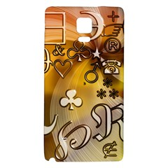 Symbols On Gradient Background Embossed Galaxy Note 4 Back Case