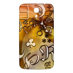 Symbols On Gradient Background Embossed Samsung Galaxy Mega I9200 Hardshell Back Case