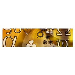 Symbols On Gradient Background Embossed Satin Scarf (oblong)