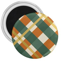 Autumn Plaid 3  Magnets