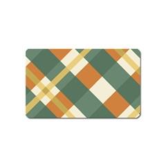 Autumn Plaid Magnet (name Card)