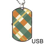 Autumn Plaid Dog Tag USB Flash (Two Sides) Front