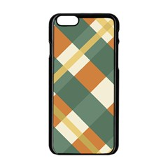 Autumn Plaid Apple iPhone 6/6S Black Enamel Case