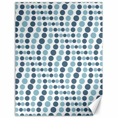 Circle Blue Grey Line Waves Canvas 18  x 24