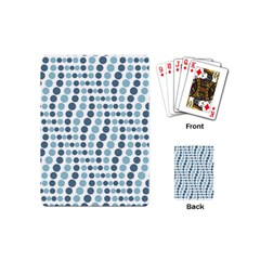 Circle Blue Grey Line Waves Playing Cards (mini)