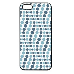 Circle Blue Grey Line Waves Apple iPhone 5 Seamless Case (Black)