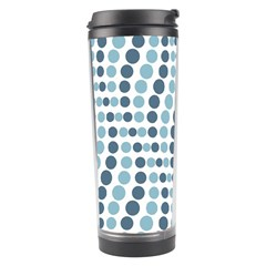 Circle Blue Grey Line Waves Travel Tumbler