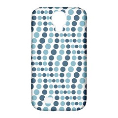 Circle Blue Grey Line Waves Samsung Galaxy S4 Classic Hardshell Case (PC+Silicone)