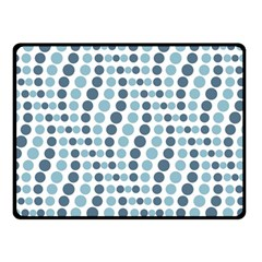 Circle Blue Grey Line Waves Double Sided Fleece Blanket (Small)
