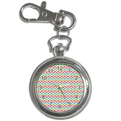 Colorful Floral Seamless Red Blue Green Pink Key Chain Watches