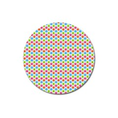 Colorful Floral Seamless Red Blue Green Pink Magnet 3  (Round)