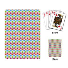 Colorful Floral Seamless Red Blue Green Pink Playing Card