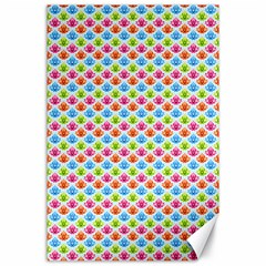 Colorful Floral Seamless Red Blue Green Pink Canvas 24  x 36