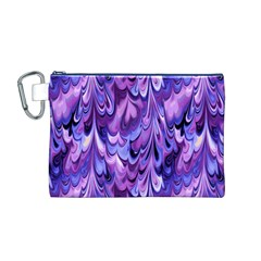 Purple Marble  Canvas Cosmetic Bag (M)
