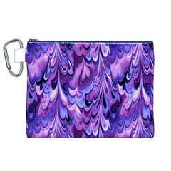 Purple Marble  Canvas Cosmetic Bag (XL)