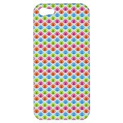 Colorful Floral Seamless Red Blue Green Pink Apple iPhone 5 Hardshell Case