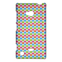 Colorful Floral Seamless Red Blue Green Pink Nokia Lumia 720