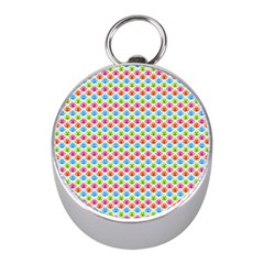 Colorful Floral Seamless Red Blue Green Pink Mini Silver Compasses