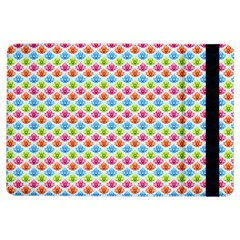 Colorful Floral Seamless Red Blue Green Pink Ipad Air Flip