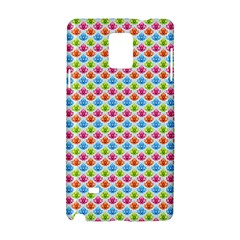 Colorful Floral Seamless Red Blue Green Pink Samsung Galaxy Note 4 Hardshell Case