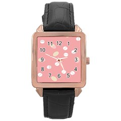 Drug Pink Rose Gold Leather Watch