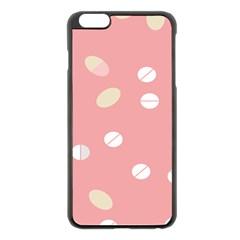 Drug Pink Apple iPhone 6 Plus/6S Plus Black Enamel Case