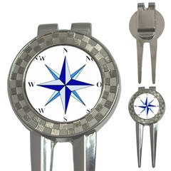Compass Blue Star 3-in-1 Golf Divots