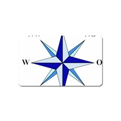Compass Blue Star Magnet (Name Card)