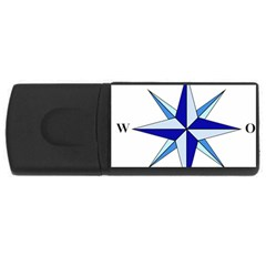 Compass Blue Star USB Flash Drive Rectangular (1 GB)