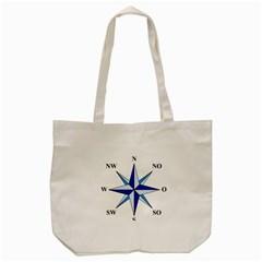 Compass Blue Star Tote Bag (Cream)