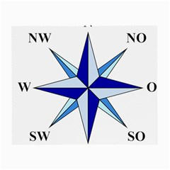 Compass Blue Star Small Glasses Cloth
