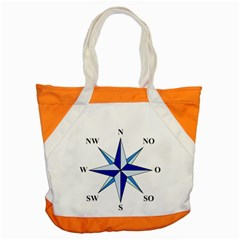Compass Blue Star Accent Tote Bag