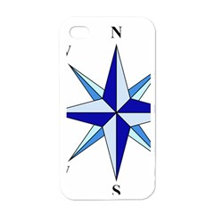 Compass Blue Star Apple iPhone 4 Case (White)