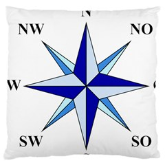 Compass Blue Star Large Cushion Case (one Side)
