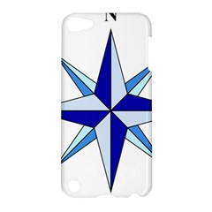 Compass Blue Star Apple iPod Touch 5 Hardshell Case