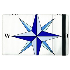 Compass Blue Star Apple Ipad 2 Flip Case