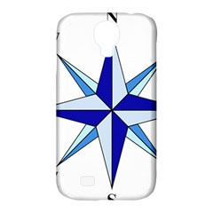 Compass Blue Star Samsung Galaxy S4 Classic Hardshell Case (PC+Silicone)
