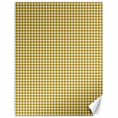 Golden Yellow Tablecloth Plaid Line Canvas 18  x 24